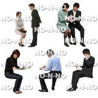 人物切抜きセット☆座る人 8set026