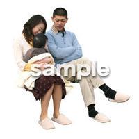 人物切抜き素材 ファミリー編 F_304