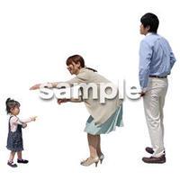 人物切抜き素材 ショッピングモール護編 T_133