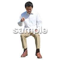 人物切抜き素材 座る人Ⅱ編 Q_513