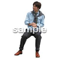 人物切抜き素材 座る人Ⅱ編 Q_479