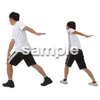 人物切抜き素材 夏服・フィットネス編 J_329
