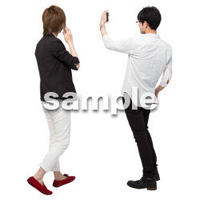 Cutout People 男性ペア JJ_409