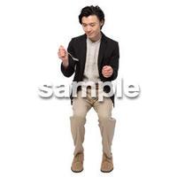 Cutout People 座る 男性 LL_151