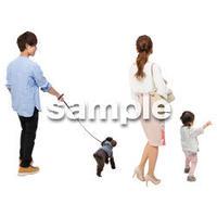 Cutout People 犬の散歩 II_454