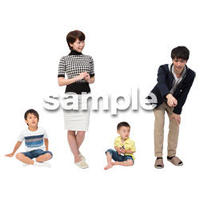 Cutout People 4人家族 II_326