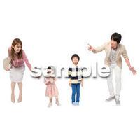 Cutout People 4人ファミリー GG_466