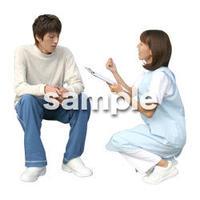 人物切抜き素材 医療・シニア車椅子編 D_176