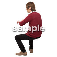 Cutout People 座る 男性 LL_440