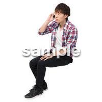 Cutout People 座る 男性 LL_422