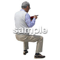 人物切抜き素材 シニアライフ編 R_455