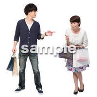 Cutout People ショッピング JJ_181