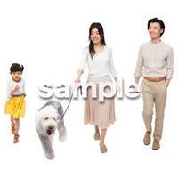 Cutout People 犬の散歩 II_441