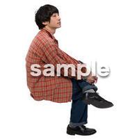 Cutout People 座る 男性 LL_428
