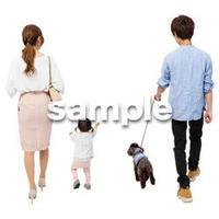 Cutout People 犬の散歩 II_455