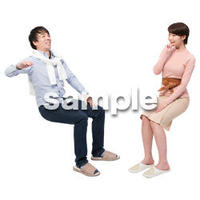 Cutout People アットホーム 座る II_387