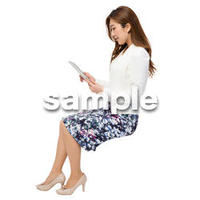 Cutout People 座る女性 KK_183
