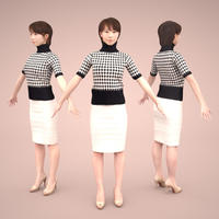 3D人モデルAポーズ 026_Haru