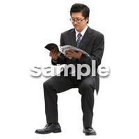 人物切抜き素材 座る人編 H_160