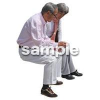 人物切抜き素材 シニアライフ編 R_318