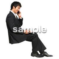 人物切抜き素材 座る人編 H_145