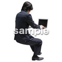 人物切抜き素材 座る人Ⅱ編 Q_358