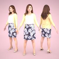 3D人モデルAポーズ 054_Mao