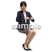 人物切抜き素材 座る人Ⅱ編 Q_092