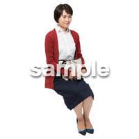 Cutout People 座る女性 KK_272