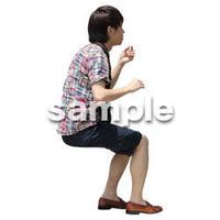 人物切抜き素材 レジャー・ショッピング編 L_464