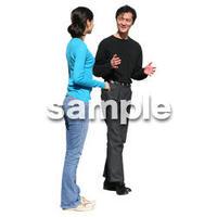 人物切抜き素材 リビング・散歩編 I_071