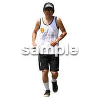 人物切抜き素材 夏服・フィットネス編 J_420