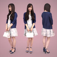 3D人物素材  [Posed]  071_Yui