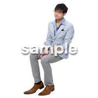 Cutout People 座る 男性 LL_282