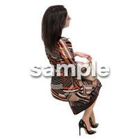 Cutout People 座る 外国人 KK_584