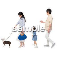 Cutout People 犬の散歩 II_448