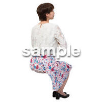 Cutout People 座る女性 KK_189