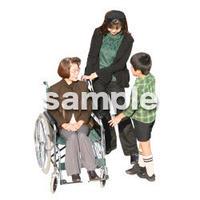 人物切抜き素材 医療・シニア車椅子編 D_250