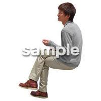 人物切抜き素材 座る人Ⅱ編 Q_554
