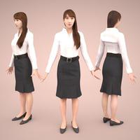 3D人モデルAポーズ 008_Rika