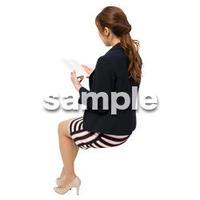 Cutout People 座る女性 KK_014