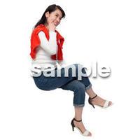 Cutout People 座る女性 KK_268