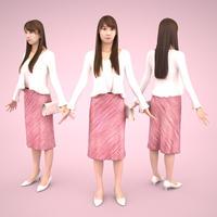 3D人モデルAポーズ 006_Rika