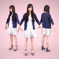3D人モデルAポーズ 072_Yui