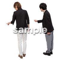 Cutout People 男性ペア JJ_404