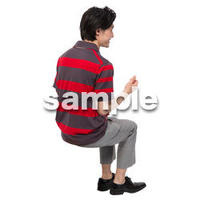 Cutout People 座る 男性 LL_494