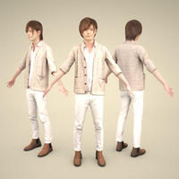 3D人モデルAポーズ 082_Ren