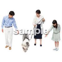 Cutout People 犬の散歩 II_461