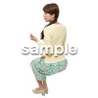Cutout People 座る女性 KK_290