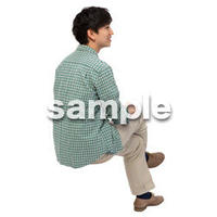 Cutout People 座る 男性 LL_419